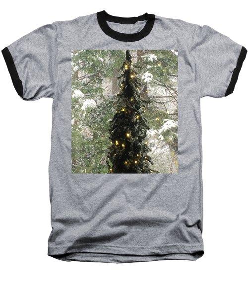 Snowy Christmas Baseball T-Shirt