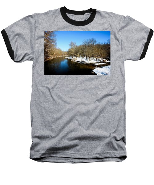 Snowy Creek Morning Baseball T-Shirt