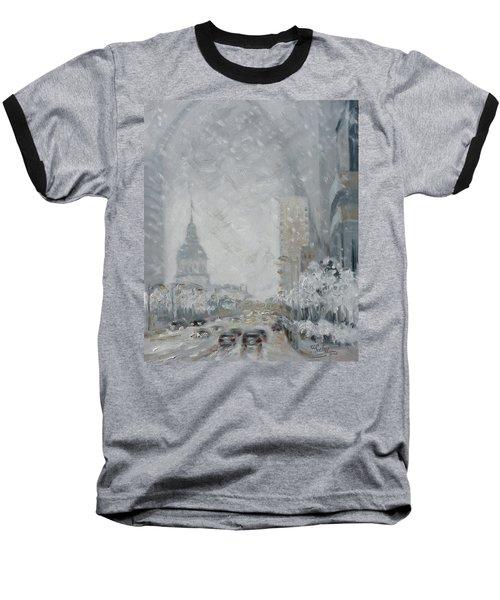 Snowy Day - Market Street Saint Louis Baseball T-Shirt