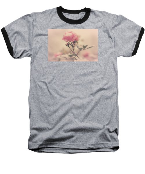 Snowy Day Of Roses Baseball T-Shirt