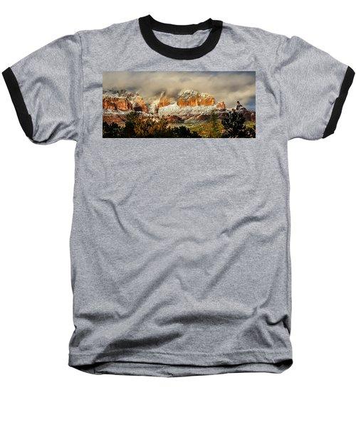 Snowy Day In Sedona Baseball T-Shirt