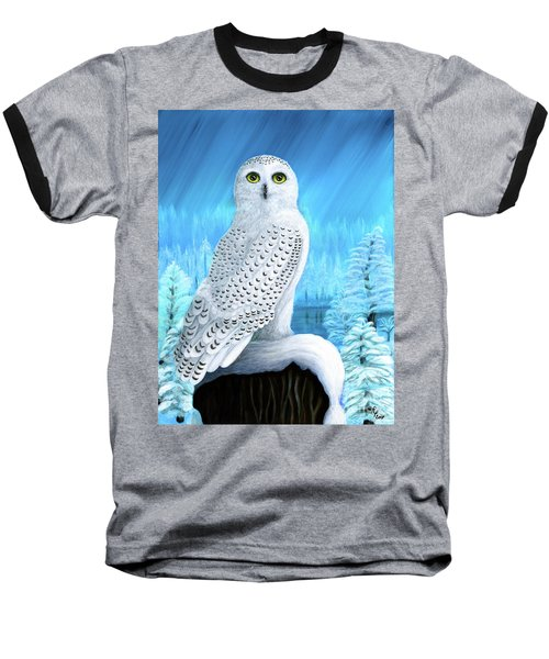 Snowy Delight Baseball T-Shirt