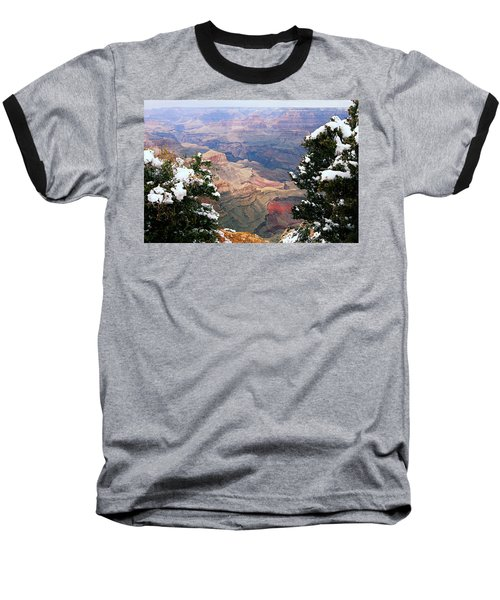 Snowy Dropoff - Grand Canyon Baseball T-Shirt