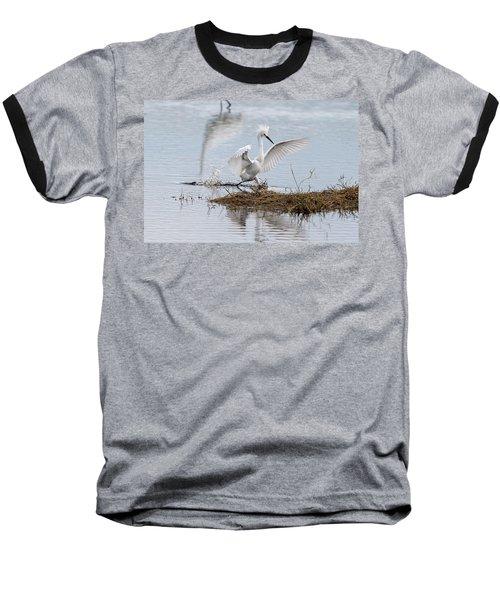Snowy Egret Chasing His Dinner Baseball T-Shirt