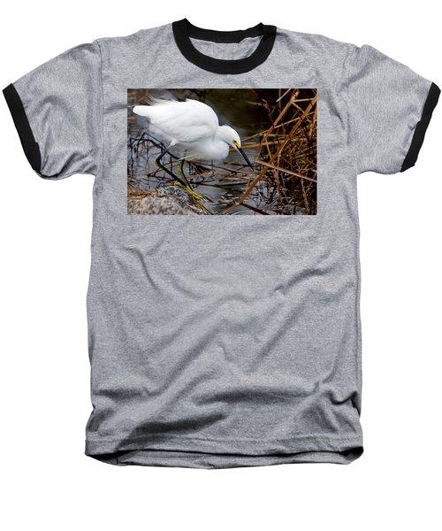 Snowy Egret Egretta Baseball T-Shirt
