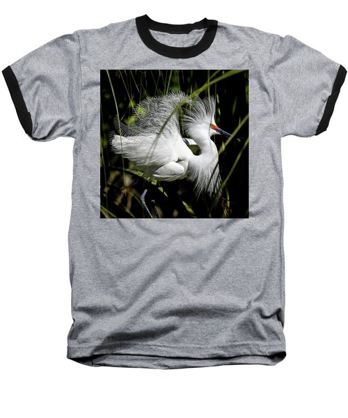 Baseball T-Shirt featuring the photograph Snowy Egret by Steven Sparks