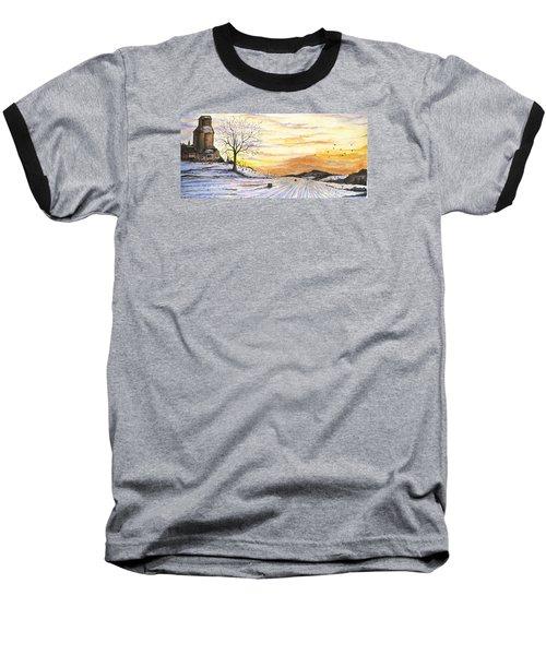 Snowy Farm Baseball T-Shirt