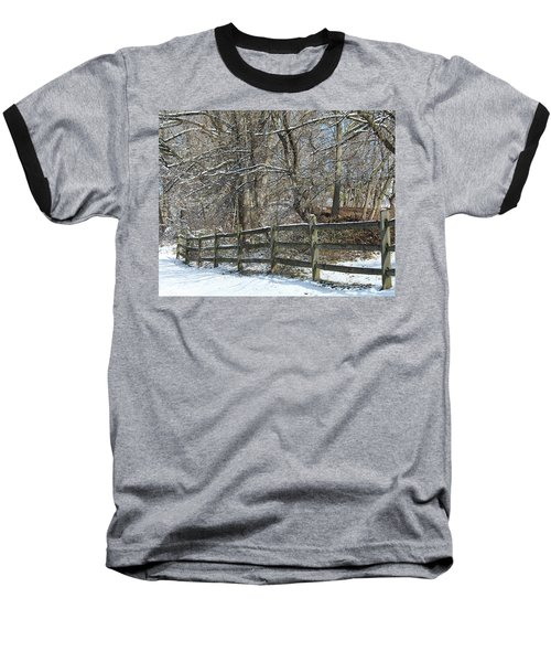 Winter Fence Baseball T-Shirt