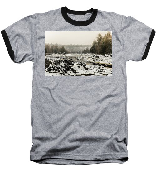 Snowy Morning At Jay Cooke Baseball T-Shirt