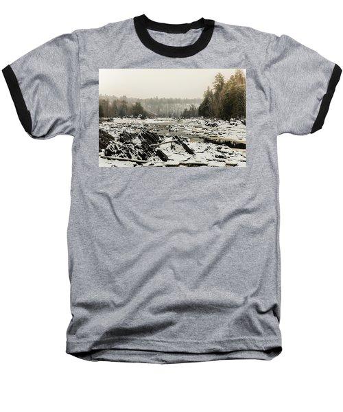 Snowy Morning At Jay Cooke Baseball T-Shirt