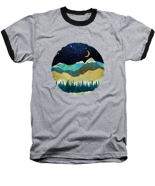 Snowy Night Baseball T-Shirt