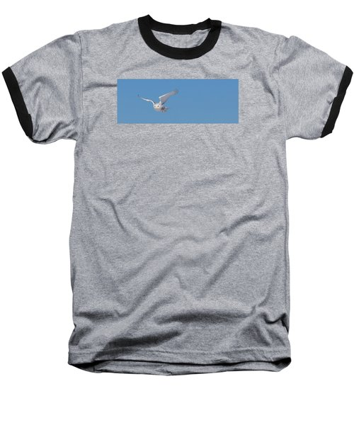 Baseball T-Shirt featuring the photograph Snowy Owl - Dive by Dan Traun