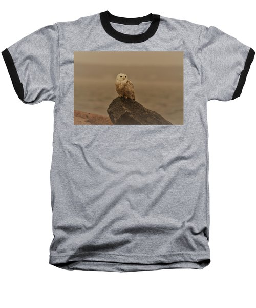 Snowy Owl In Sepia Baseball T-Shirt