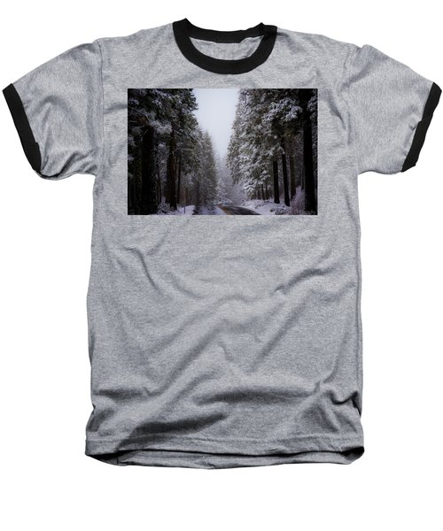 Snowy Path Baseball T-Shirt