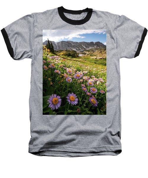 Snowy Range Flowers Baseball T-Shirt