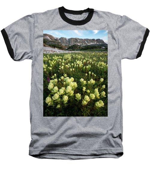 Snowy Range Paintbrush Baseball T-Shirt