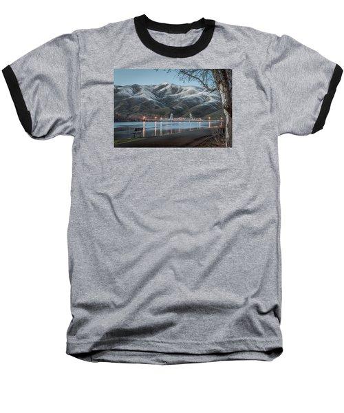 Snowy Star Baseball T-Shirt by Brad Stinson
