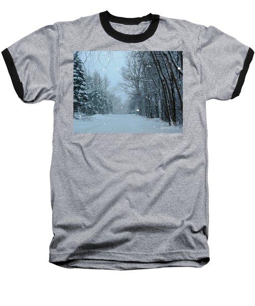 Snowy Street Baseball T-Shirt