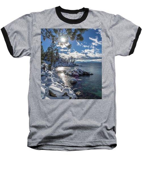 Snowy Tahoe Baseball T-Shirt