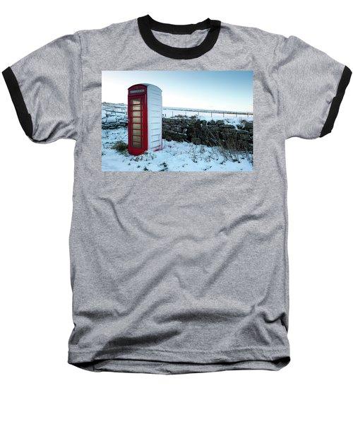 Snowy Telephone Box Baseball T-Shirt