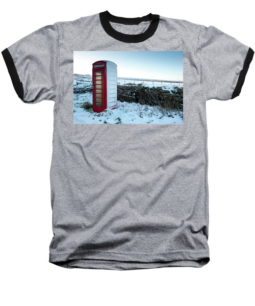 Snowy Telephone Box Baseball T-Shirt