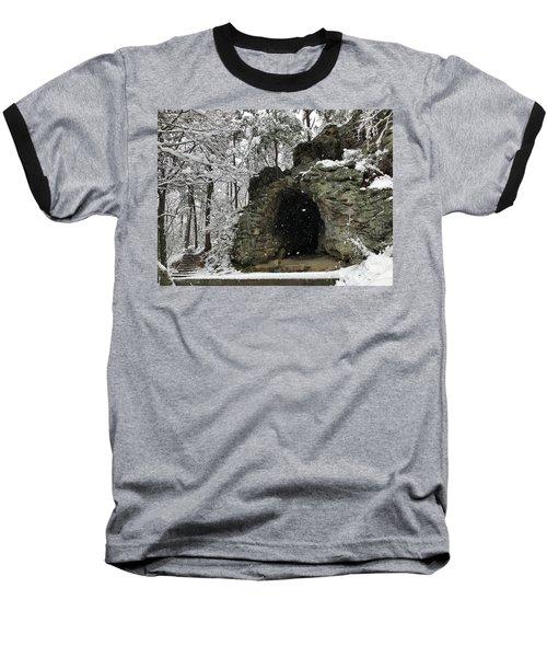 Snowy Torys Den Baseball T-Shirt