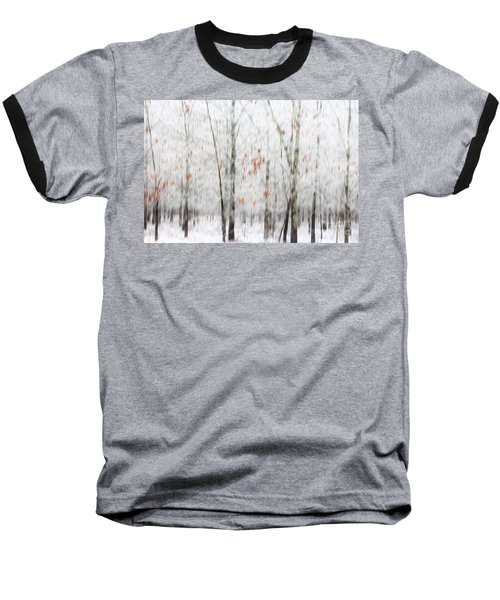 Baseball T-Shirt featuring the photograph Snowy Trees Abstract by Benanne Stiens