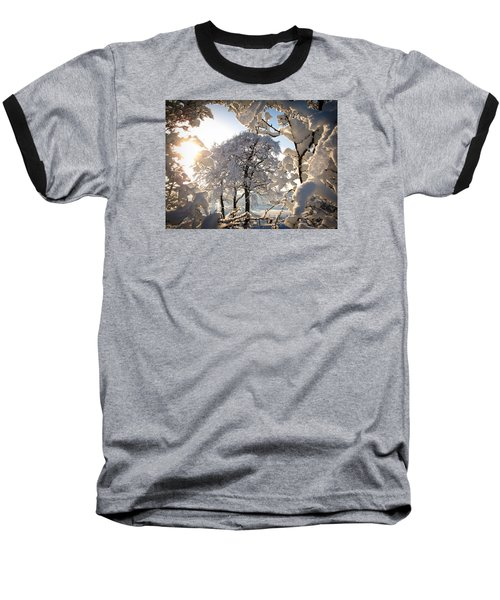 Snowy Trees Baseball T-Shirt by RKAB Works
