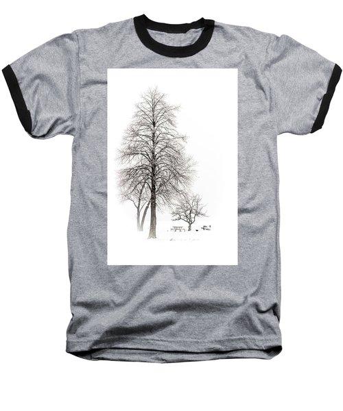 Snowy Trees Baseball T-Shirt