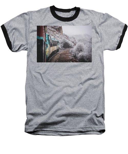 Snowy Verde Canyon Railroad Baseball T-Shirt