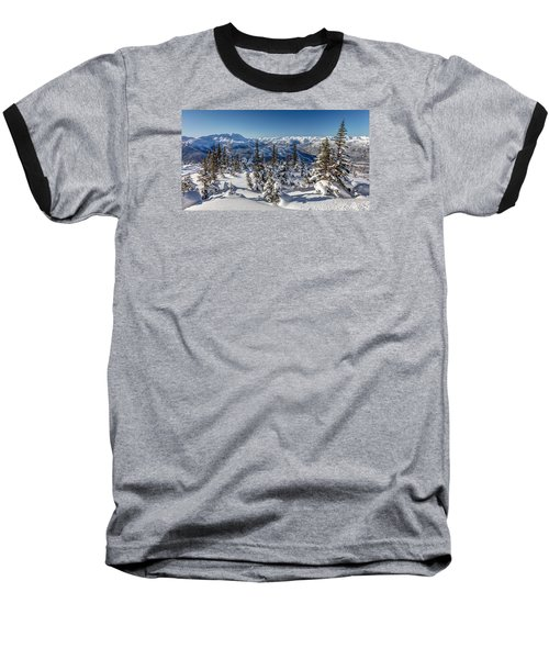 Snowy Whistler Mountain  Baseball T-Shirt