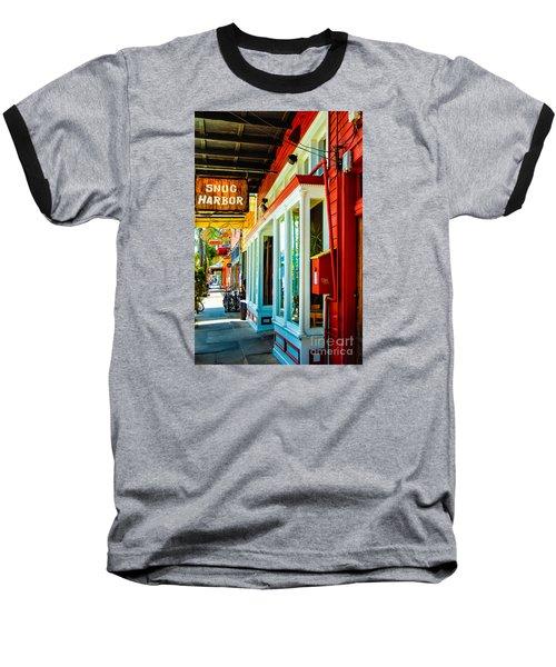Snug Harbor Jazz Bistro- Nola Baseball T-Shirt by Kathleen K Parker