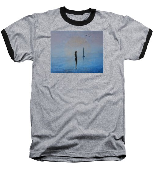Baseball T-Shirt featuring the painting So Close by Jane See