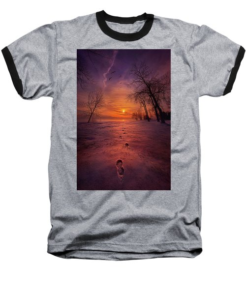 Baseball T-Shirt featuring the photograph So Close No Matter How Far by Phil Koch