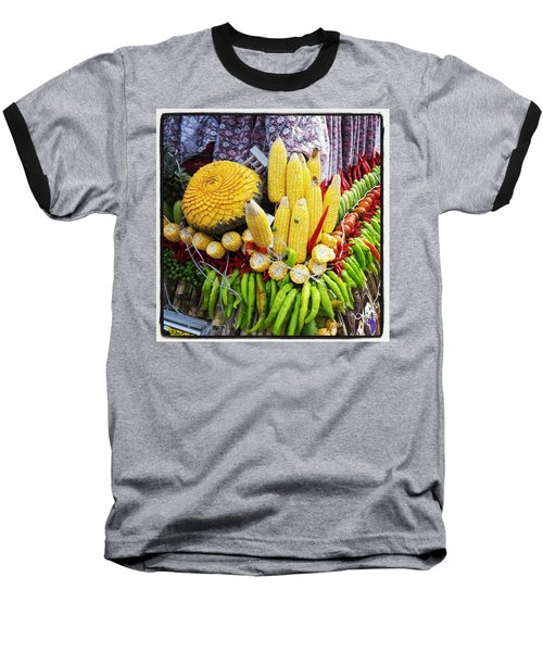 Baseball T-Shirt featuring the photograph So, Elephants Eat Red Hot Chile by Mr Photojimsf