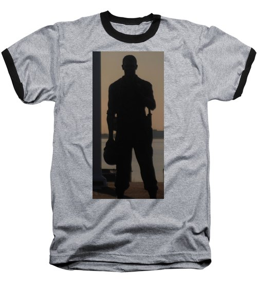 Baseball T-Shirt featuring the photograph So Help Me God by John Glass
