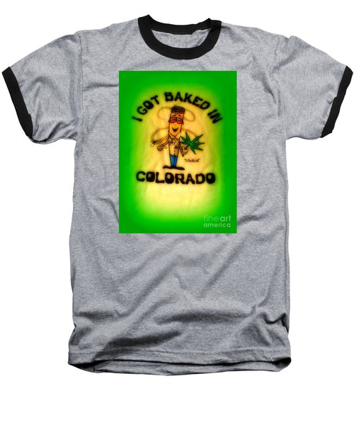 So High Too Baseball T-Shirt by Kelly Awad