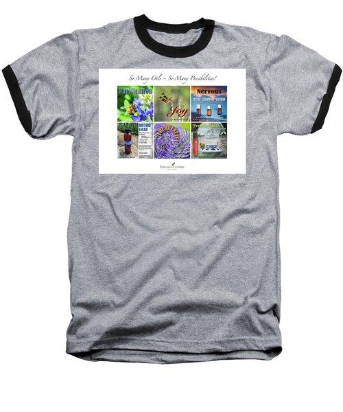 Baseball T-Shirt featuring the digital art So Many Oils by Cheryl McClure