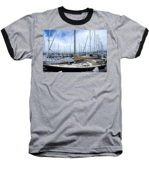 So Many Sailboats Baseball T-Shirt by Laura DAddona