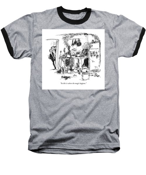 So This Is Where The Magic Happens Baseball T-Shirt