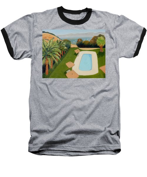 Baseball T-Shirt featuring the painting So Very California by Gary Coleman