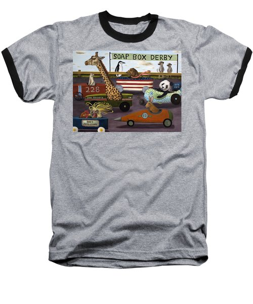 Soap Box Derby Baseball T-Shirt by Leah Saulnier The Painting Maniac