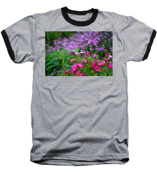 Baseball T-Shirt featuring the photograph Soapwort And Pinks by Kathryn Meyer