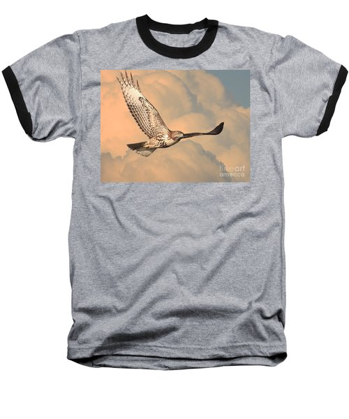 Soaring Hawk Baseball T-Shirt