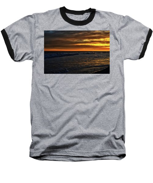Baseball T-Shirt featuring the photograph Soaring In The Sunset by Kelly Reber