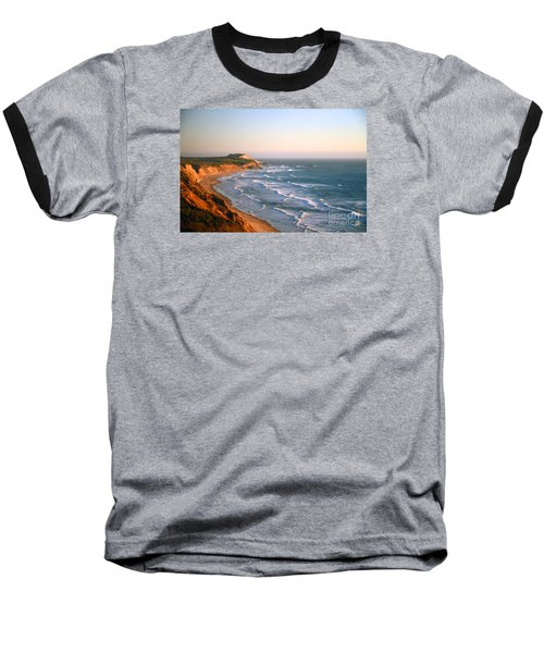 Baseball T-Shirt featuring the photograph Socal Sunset Ocean Front by Clayton Bruster