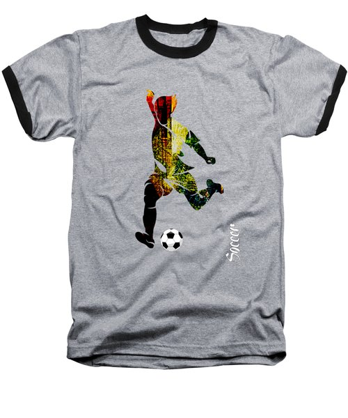 Soccer Collection Baseball T-Shirt by Marvin Blaine