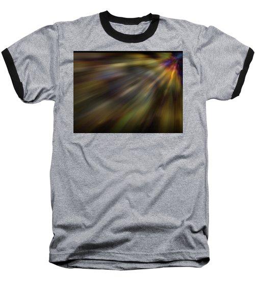 Soft Amber Blur Baseball T-Shirt by Carol Crisafi