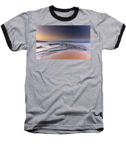 Soft And Rocky Sunrise Seascape Baseball T-Shirt