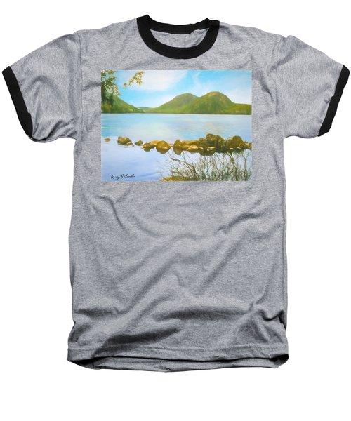 Soft Art Photograph Jordan Pond Acadia Nat. Park Maine Baseball T-Shirt